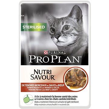 Pro Plan Cat Sterilised s hovězím 24 × 85 g - Kapsička pro kočky
