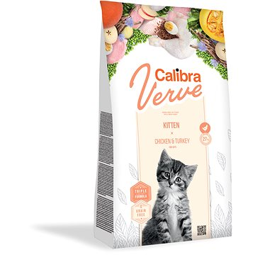 Calibra Cat Verve GF Kitten Chicken&Turkey 750g NEW - Granule pro koťata