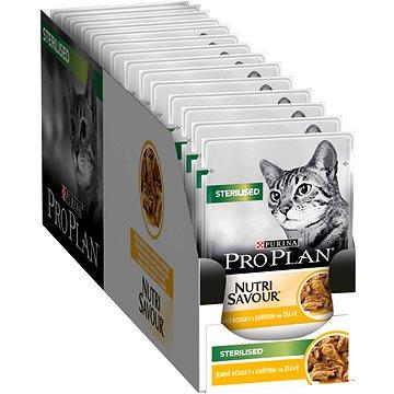 Pro Plan Cat Sterilised s kuřetem 26 × 85 g - Kapsička pro kočky