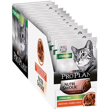 Pro Plan Cat Sterilised s hovězím 26 × 85 g - Kapsička pro kočky