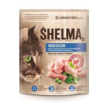 Shelma Indoor bezobilné granule s čerstvým krůtím pro dospělé kočky 750 g - Granule pro kočky