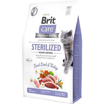 Brit Care Cat Grain-Free Sterilized Weight Control, 2 kg - Granule pro kočky