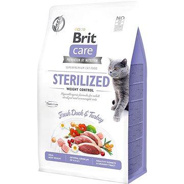 Brit Care Cat Grain-Free Sterilized Weight Control, 0,4 kg - Granule pro kočky