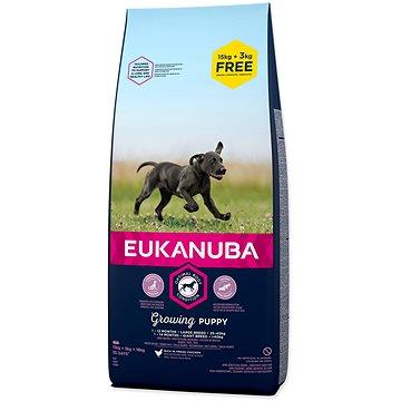 Eukanuba Puppy Large 15+3kg ZDARMA - Granule pro štěňata