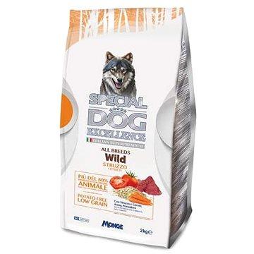 Monge Special Dog Excellence all Breeds Wild pštros 2kg - Granule pro psy