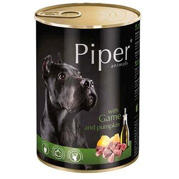 Piper Adult konzerva pro dospělé psy zvěřina a dýně 400g - Kapsička pro psy
