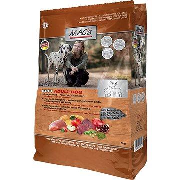 MaC's Dog Soft GRAIN FREE Jelen, Krůta a Zvěřina 15kg - Granule pro psy