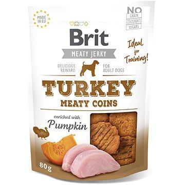 Brit Jerky Turkey Meaty Coins 80g  - Pamlsky pro psy