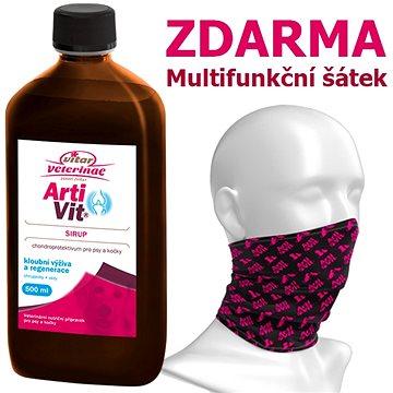 Vitar Veterinae Artivit sirup 500 ml + Multifunkční šátek ZDARMA - Kloubní výživa pro psy