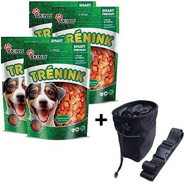 Akinu tréninkové kachní kostky pro psy 4 × 120 g + Akinu Pamlskovník ZDARMA - Pamlsky pro psy