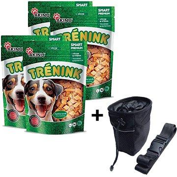Akinu tréninkové lososové kostky pro psy 4 × 120 g + Akinu Pamlskovník ZDARMA - Pamlsky pro psy