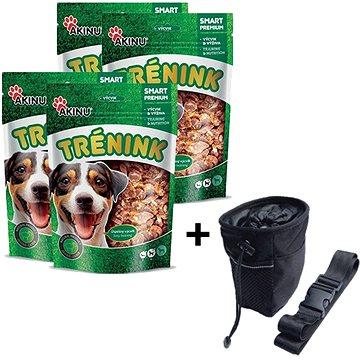 Akinu tréninkové jehněčí lupínky s treskou 4 × 120 g + Akinu Pamlskovník ZDARMA - Pamlsky pro psy