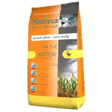 Nativia Kitten - Duck & Rice 1,5 kg - Granule pro koťata