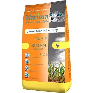 Nativia Kitten - Duck & Rice 10 kg - Granule pro koťata