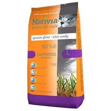 Nativia Castrated – Duck & Rice 10 kg - Granule pro kočky