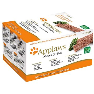 Applaws paštika Cat multipack fresh 7 × 100 g - Paštika pro kočky