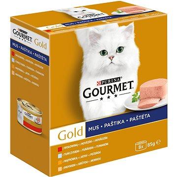 Gourmet gold (8 × 85 g) – paštiky - Konzerva pro kočky