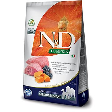 N&D PUMPKIN grain free dog adult M/L lamb & blueberry 12 kg - Granule pro psy