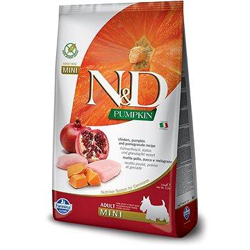 N&D PUMPKIN grain free dog adult mini chicken & pomegranate 7 kg - Granule pro psy