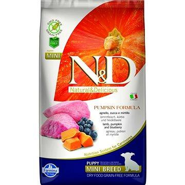 N&D PUMPKIN grain free dog puppy mini lamb & blueberry 7 kg - Granule pro štěňata