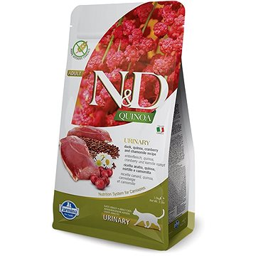 N&D QUINOA grain free cat urinary duck & cranberry 1,5 kg - Granule pro kočky