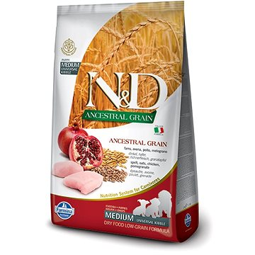 N&D low grain dog puppy chicken & pomegranate 12 kg - Granule pro štěňata