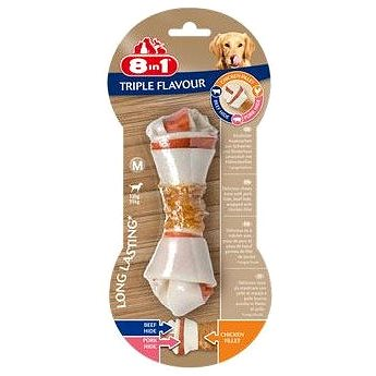 Pochoutka 8in1 Triple Flavour M (1ks) - Kost pro psy