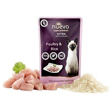 Nuevo kotě kapsa drůbeží s rýží 85 g - Kapsička pro kočky