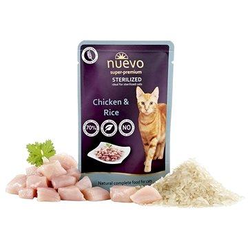 Nuevo kočka kapsa sterilized drůbeží s rýží 85 g - Kapsička pro kočky
