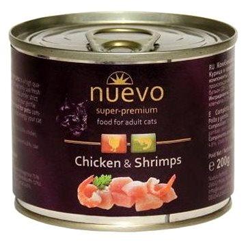 Nuevo kočka adult kuře a krevety konzerva 200g - Konzerva pro kočky