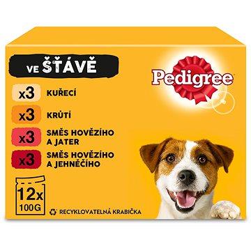 Pedigree Vital Protection kapsička masový výběr se zeleninou ve šťávě pro dospělé psy 12 × 100g - Kapsička pro psy