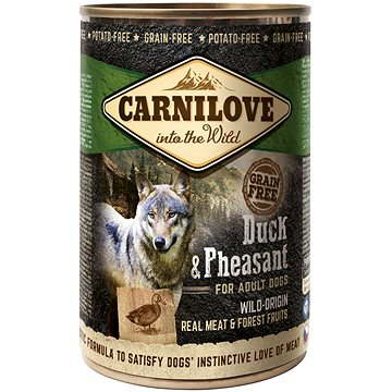 Carnilove wild meat duck & pheasant 400 g - Konzerva pro psy
