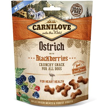 Carnilove dog crunchy snack ostrich with blackberries with fresh meat 200 g - Pamlsky pro psy