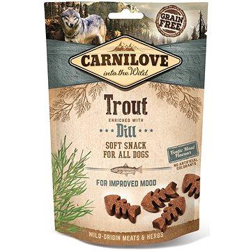 Carnilove dog semi moist snack trout enriched with dill 200 g - Pamlsky pro psy
