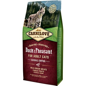 Carnilove duck & pheasant for adult cats – hairball control 6kg - Granule pro kočky