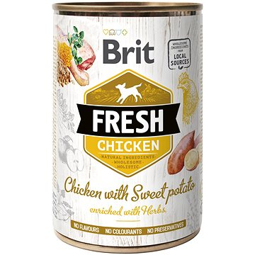 Brit Fresh chicken with sweet potato 400 g  - Konzerva pro psy