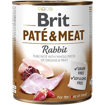 Brit Paté & Meat Rabbit 800 g - Konzerva pro psy