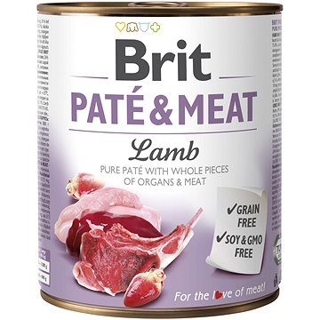 Brit Paté & Meat Lamb 800 g - Konzerva pro psy