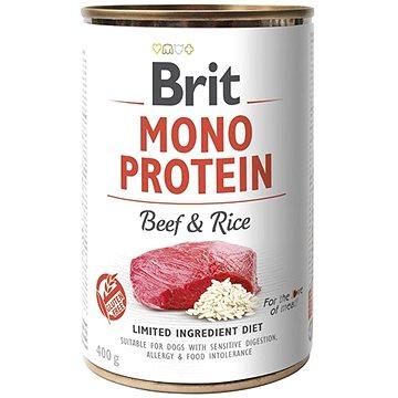 Brit Mono Protein beef & brown rice 400 g  - Konzerva pro psy