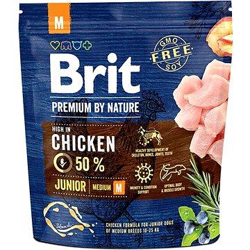 Brit Premium by Nature Junior M 1 kg - Granule pro štěňata