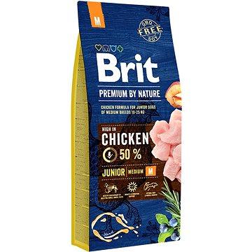 Brit Premium by Nature Junior M 15 kg - Granule pro štěňata