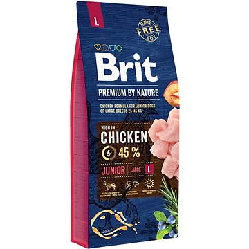 Brit Premium by Nature Junior L 15 kg - Granule pro štěňata