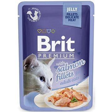 Brit Premium Cat Delicate Fillets in Jelly with Salmon 85 g - Kapsička pro kočky
