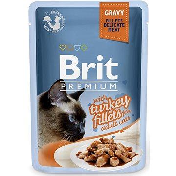 Brit Premium Cat Delicate Fillets in Gravy with Turkey 85 g - Kapsička pro kočky