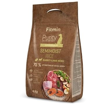 Fitmin dog Purity Rice Semimoist Rabbit&Lamb - 4 kg - Granule pro psy