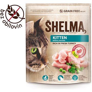 Shelma Junior bezobilné granule s čerstvým krůtím pro koťata 750 g - Granule pro koťata