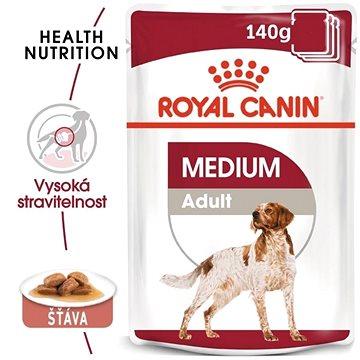 Royal Canin Medium Adult 10 × 140 g - Kapsička pro psy