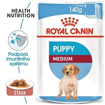 Royal Canin Medium Puppy 10 × 140 g - Kapsička pro psy