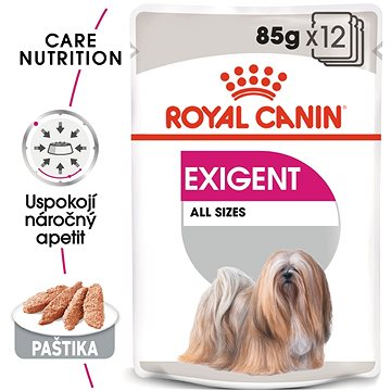 Royal Canin Exigent Dog Loaf 12 × 85 g - Kapsička pro psy