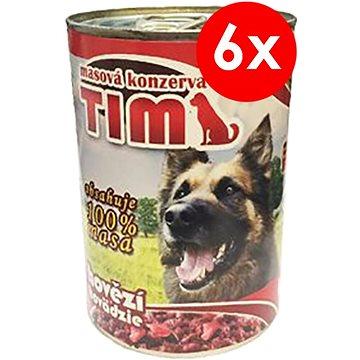 TIM 400g hovězí, 6ks - Konzerva pro psy